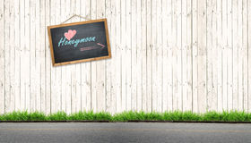 Chalkboard of honeymoon royalty free stock image