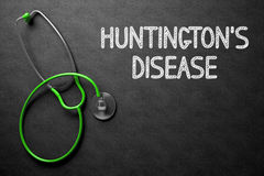Chalkboard with Huntingtons Disease. 3D Illustration. Royalty Free Stock Image