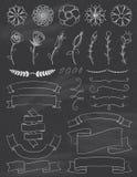Chalkboard i faborku projekta elementy Kwitniemy royalty ilustracja