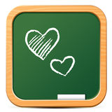 Chalkboard icon Stock Photos