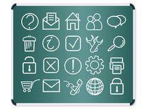 Chalkboard icons vector Royalty Free Stock Photography