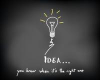 Chalkboard_idea_bulbs_spark Images stock