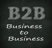 Chalkboard illustration of b2b - business to business Stock Photo