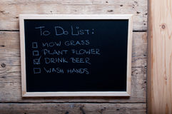 Chalkboard image with to do list Stock Photography