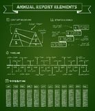 Chalkboard infographics elements Royalty Free Stock Images