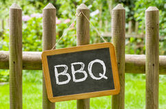 Chalkboard with the inscription BBQ Stock Photography