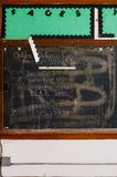 Chalkboard - Abandoned Saint Philomena School, East Cleveland, Ohio. A chalkboard inside a classroom in the historic Saint Philomena School in East Cleveland Stock Photography