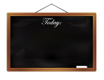 Chalkboard isolated on white background  illustration Royalty Free Stock Photos