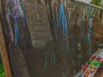 Chalkboard kolor i bąble obraz royalty free