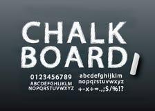 Chalkboard lettering font vector. Chalkboard lettering font in vector format royalty free illustration