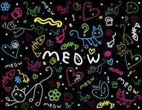 chalkboard śliczny doodles styl Obrazy Stock
