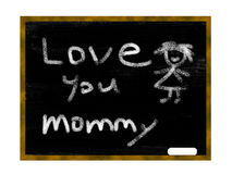 Chalkboard - Love. Chalkboard of love you mommy Stock Illustration