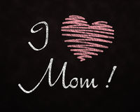 Chalkboard Love for Mom Stock Images