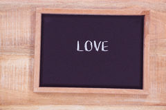 Chalkboard with love text Royalty Free Stock Photo