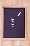 Chalkboard with love text Stock Photos