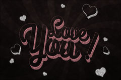 Chalkboard Love you Royalty Free Stock Photography