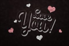 Chalkboard Love you Stock Photo