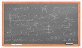 Chalkboard with Math. Stock Photography