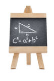 Chalkboard with a mathematical formula Stock Photography