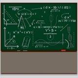 Chalkboard maths naukowi 3d ilustracja wektor