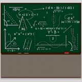 Chalkboard maths scientific. 3D. Chalkboard maths scientifics. 3D Isolate. Easy background remove. Easy color change. Easy combine Royalty Free Stock Photos