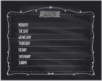 Chalkboard meal planning menu royalty free illustration