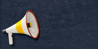 Chalkboard megaphone Royalty Free Stock Image