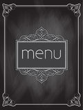 Chalkboard menu design Stock Image