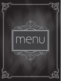 Chalkboard menu design Stock Image
