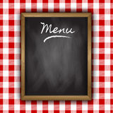 Chalkboard menu design Stock Photos