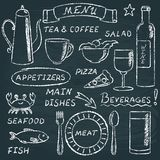 Chalkboard menu elements set 2 Royalty Free Stock Images