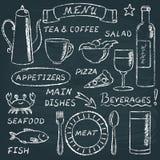 Chalkboard menu elements set 2 Royalty Free Stock Images