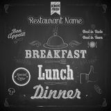 Chalkboard Menu royalty free illustration