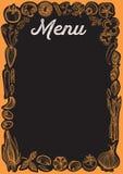 Chalkboard menu karty szablon dla restauracji z warzywami obrazy stock