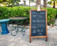 Chalkboard menu Royalty Free Stock Photos