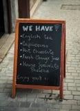 Chalkboard menu Stock Photo