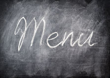 Chalkboard menu title. For your menu design Stock Image