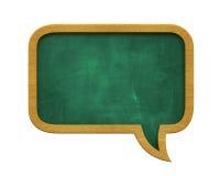 Chalkboard mowy bąbel ilustracja wektor