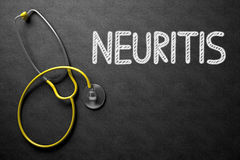 Chalkboard with Neuritis Concept. 3D Illustration. Stock Images