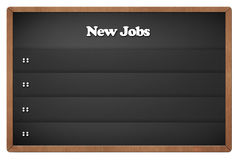 Chalkboard with new jobs Stock Images