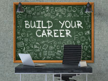 Chalkboard on the Office Wall with Build Your Career Concept. 3D. Royalty Free Stock Photography