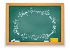Chalkboard with ornate frame Stock Photo