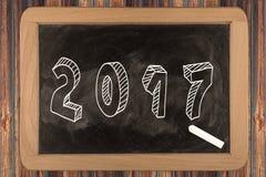 2017 - chalkboard Stock Photos