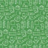 Chalkboard Pattern. Seamless pattern of chalkboard school doodles Stock Images