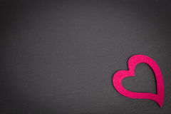 Chalkboard with pink heart Stock Photo