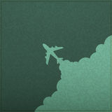 Chalkboard plane launch Royalty Free Stock Images