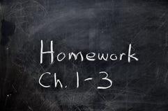 chalkboard praca domowa Obraz Royalty Free