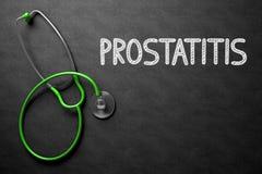 Chalkboard with Prostatitis. 3D Illustration. Royalty Free Stock Image