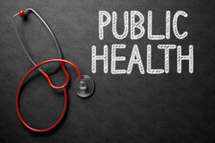Chalkboard with Public Health Concept. 3D Illustration. Stock Photo