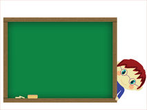 Chalkboard and pupil Stock Images